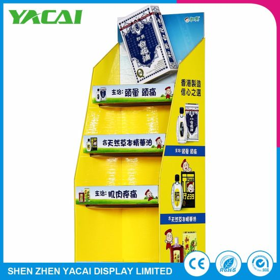 Paper Floor-Type Display Stand Exhibition Rack for Speciality Stores pictures & photos
