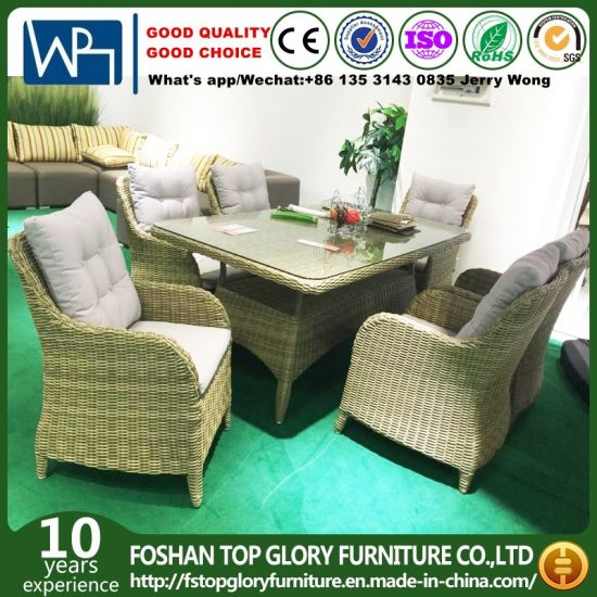 China Wicker Furniture Rattan Dining Sets Wicker Set Table With