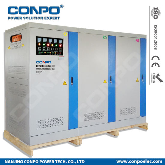 SBW-F-1200kVA 3phase Split-Phase, Industrial-Grade Compensated Voltage Stabilizer/Regulator pictures & photos
