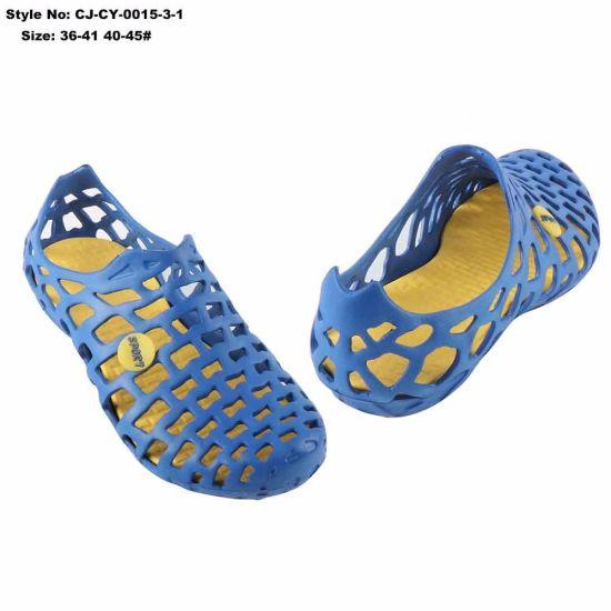 7273c2db9da57 China Blue Rubber Garden EVA Holey Clog Holey Injection Molded Foam ...