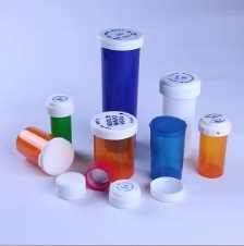 Transparent/Opaque Medicine Vials Reusable Child-Resistant Vial