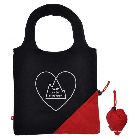 Canvas Drawstring Pocket Foldable Tote Bags for Shopping