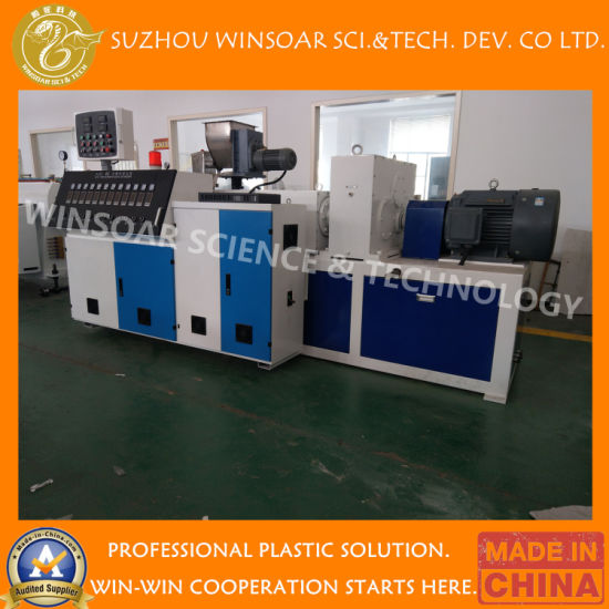 Plastic LDPE/MDPE/HDPE Pipe/Profile/Sheet/Plate Special Screw Designed Extrusion Lines for Indoor and Outdoor Floor Machinery/Extruding Machine