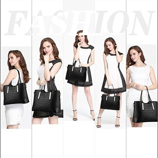 European Style Ladies Tote Bag Leather Handbag with Big Capacity pictures & photos