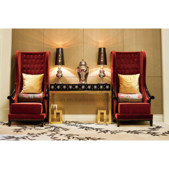Single High Back Sofa For Hotel Lobby