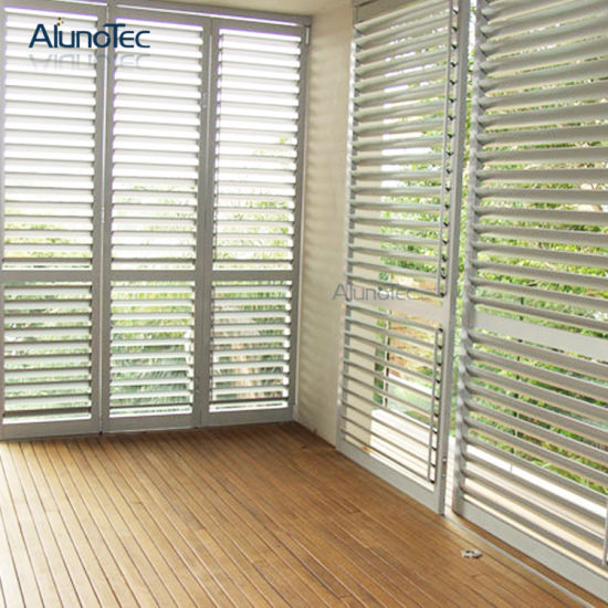 China Adjustable Exterior Wooden Shutters - China Wooden Shutter ...