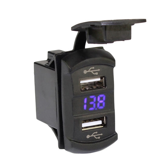 5V 4.2A Dual Port USB Charger with Voltmeter for Car/Truck/Marine