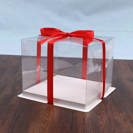 Custom Size High Quality Pet Plastic Cake Packaging Box