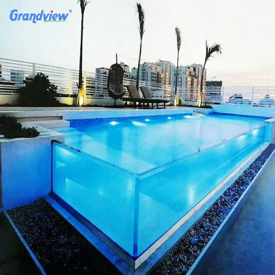Thick Clear Outdoor Glass Acrylic Panels for SPA Swimming Pool Wall