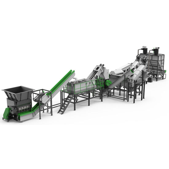 Industrial Agricultural Film Recycling Washing Shredder Crusher Granultor Machine for PP/PE