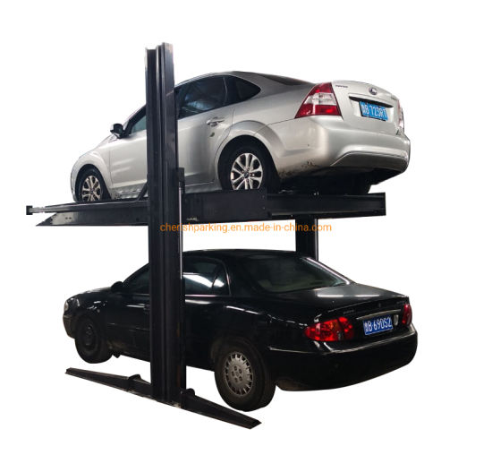 Automatic Shared Column 2 Layers Car Parking Lift with CE