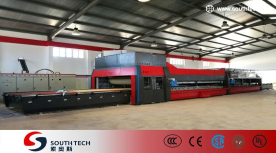 Southtech Intelligent Low Energy Consumption and High Productivity Mode Passing Flat and Bend Glass Toughening Furnance (NTPWG series)