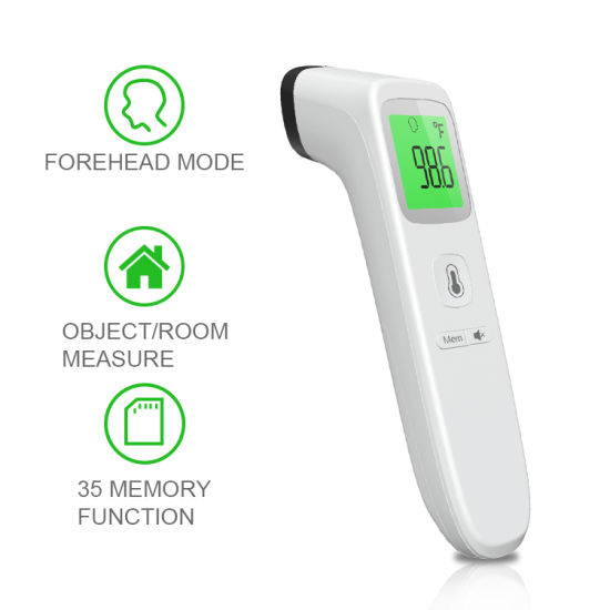 Non-Contact Infrared Thermometer for Baby Kids and Adults Accurate Instant Readings Forehead Thermometer with LCD Display