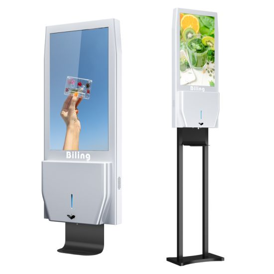 Hot Selling 21.5inch WiFi Digital Signage Auto Dispenser Hand Sanitizer Stand Advertising