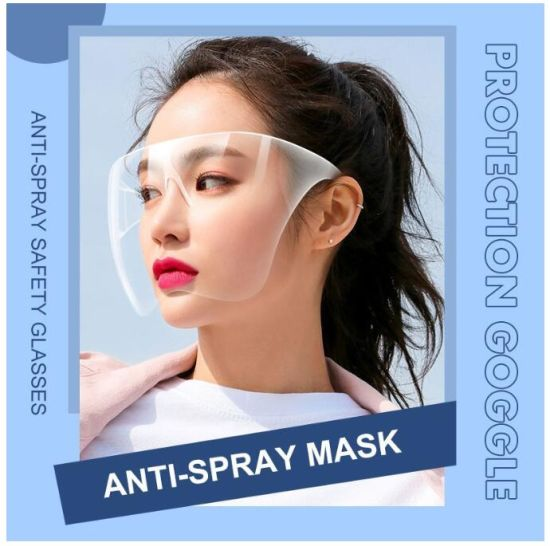 Semi, Anti Fog Full Blocc Face Shield, Transparent Glasses Cover, 15 Color, Pantalla Facial, China Wholesale Factory Price, Can Be Customized or OEM