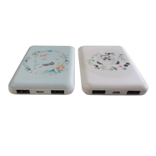 Slender Power Bank Wholesale 5000mAh Power Supply with UV printing Customized Logo pictures & photos