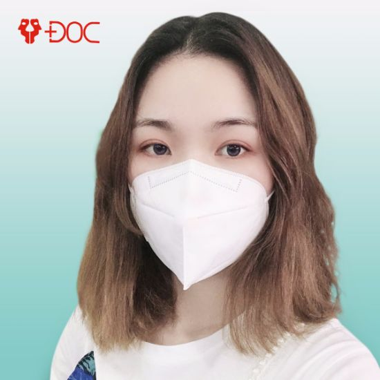 Hot! White Color C-Shape FFP3 Mask Breathable No Valve Anti Bactirial Dust Mask with Ce Certificated