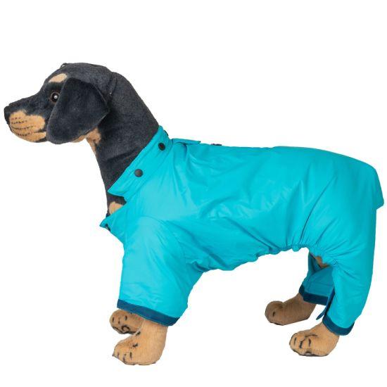 Custom Cute Pet Blue Windbreak Coat Winter Dog Clothes