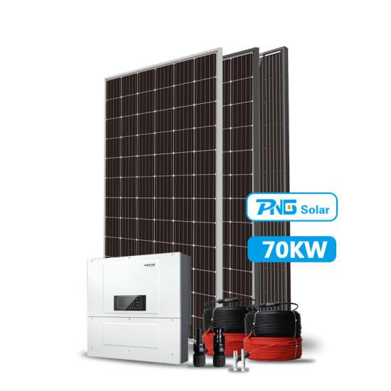 China Professional Design 70kw On Grid Three Phase Solar Panel System China Solar System Solar Power System