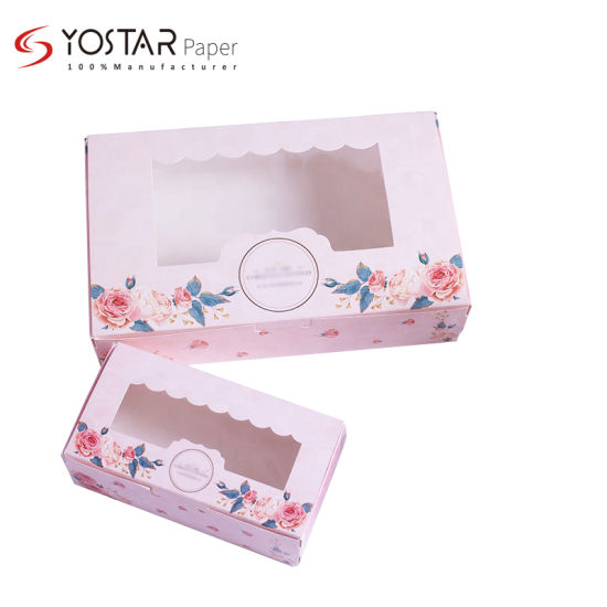 Custom Disposable Folding Packing Gift Paper Box for Lunch and Salad and Cake and Sushi Food