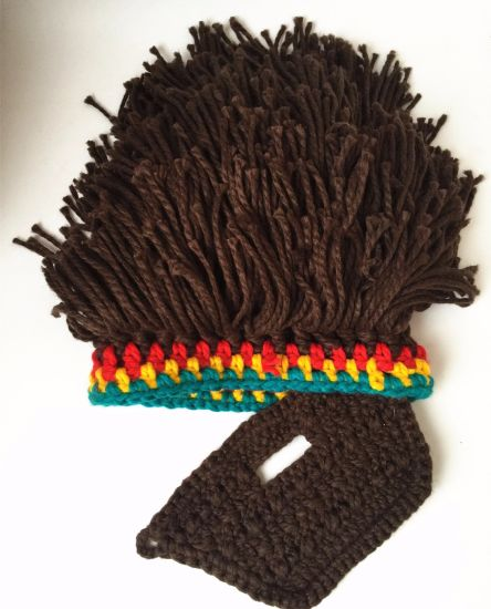 Handmade Wig Wool Hat Bearded Rasta Hand Knitted Crocheted Hat pictures & photos