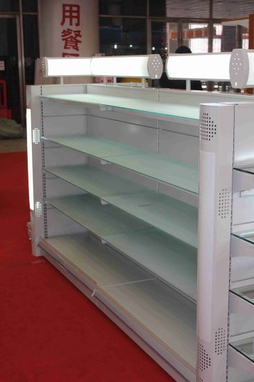 White Color Gondola Shelving System pictures & photos