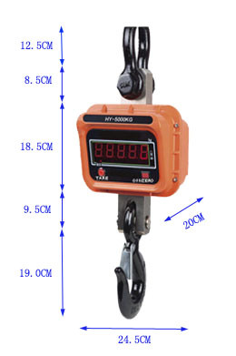 1t Crane Scale Remote Control Battery Scales pictures & photos