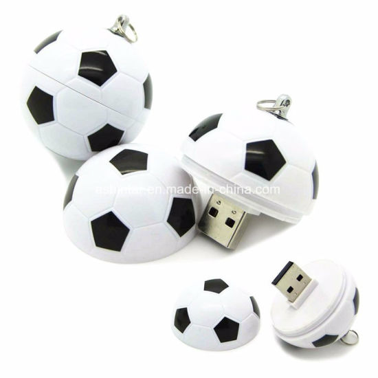 Plastic USB Pendrive Soccer USB Memory Heart Shape USB Stick pictures & photos