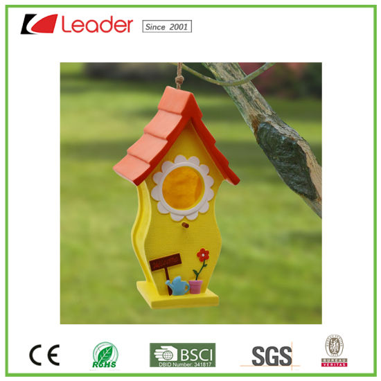 Best-Seller Polyresin Garden Birdhouse for Lawn and Tree Decoration pictures & photos