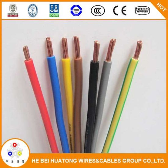 China Thw Wire PVC Coated 2 4 6 8 AWG Copper Wire - China Thw/Tw ...