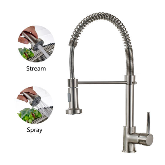 Flg Brushed Nickel Pull out Kitchen Faucet/Tap/Mixer pictures & photos