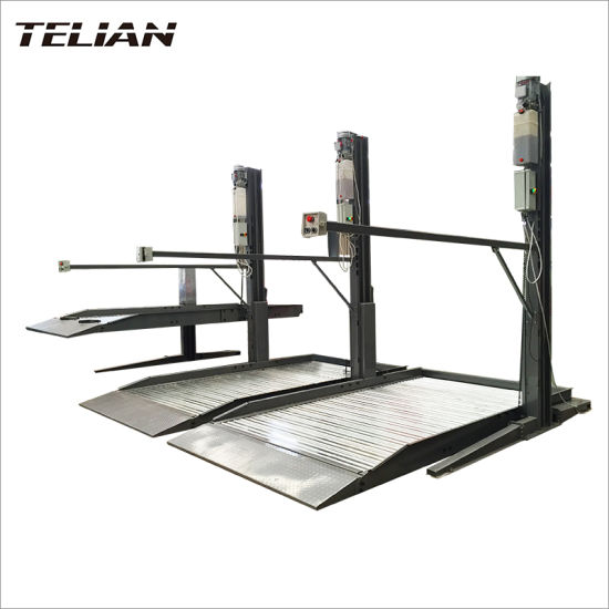 Lifting Height 2100 mm Double Cylinder 2 Level Two Post Car Parking Lift