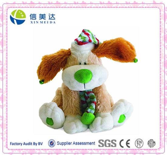China Custom Funny Dancing Christmas Dog Stuffed Plush Toy China Christmas Dog Toy And Electronic Plush Toy Price