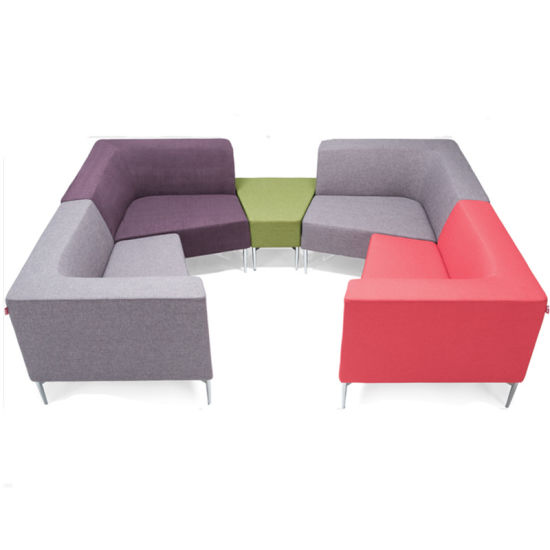 High-Grade Liner Cloth Lounge Office Sofa Set Low Back Office Meeting Booth