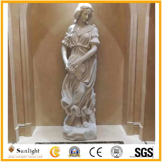 Natural White Marble Stone Figure and Animal Statue/Sculpture for outdoor Decoration