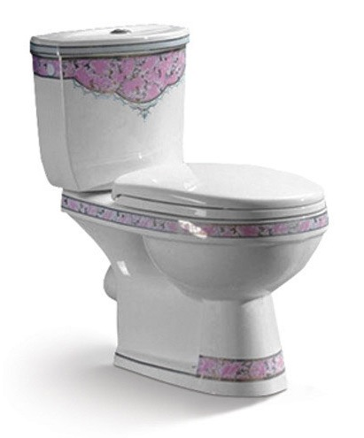 Chaozhou Ceramic Sanitary Ware Decorative Toilet for MID East pictures & photos