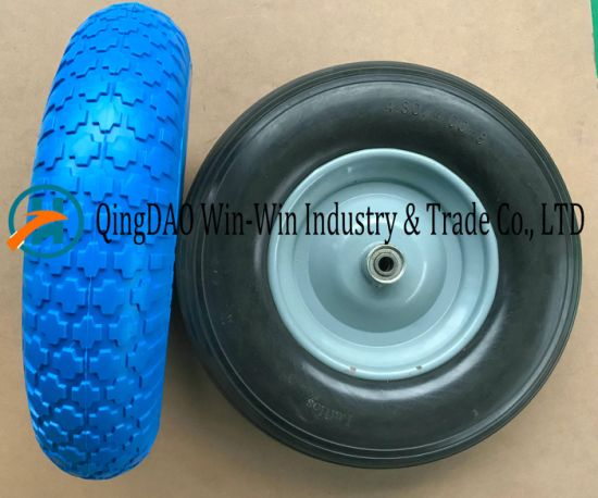 PU Foam Wheel with Colorful PU Part (4.80/4.00-8) pictures & photos