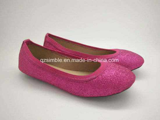 New Shiny PU Ballets Shoes for Children to Wear