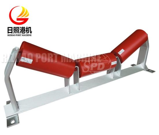 SPD Low Radial Runout Trough Carry Steel Belt Conveyor Idler Roller and Frame for Concrete Plant pictures & photos