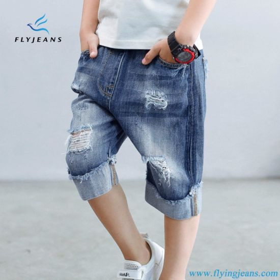 f286561726 China New Style Comfotable Boys Denim Jeans Shorts by Fly Jeans ...