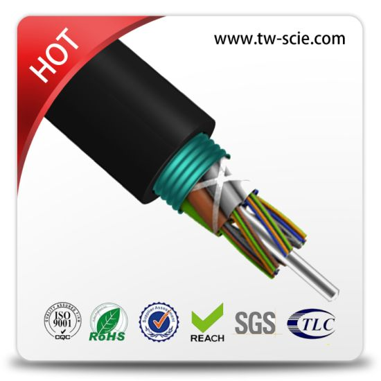 Multi Mode Duct FRP Strength Member 12 Core Optical Fiber Cable-G pictures & photos