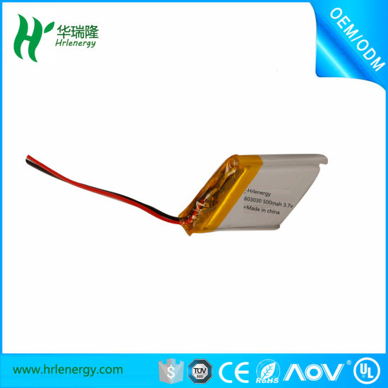Small Lithium Polymer Battery 3.7V 602030 300mAh pictures & photos