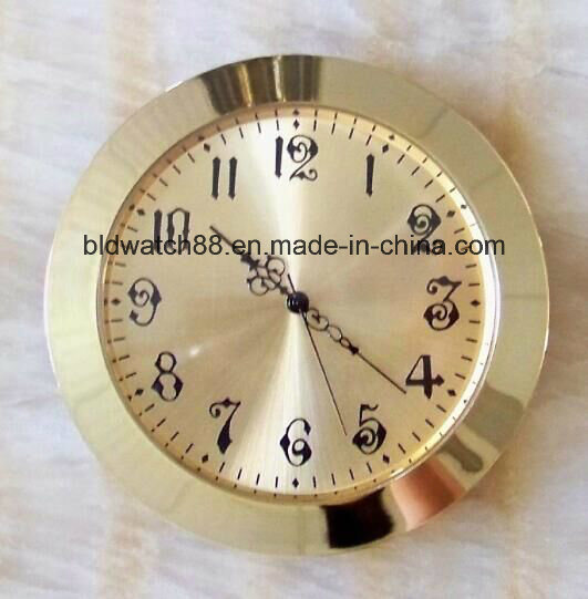 Promotional Quartz Clock Inserts Arabic Numbers Face Gold Tone pictures & photos