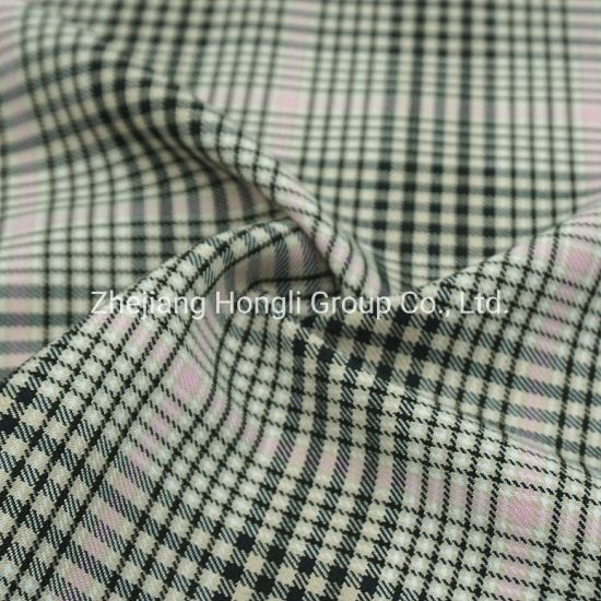 85% Polyester 13% Rayon 2% Spandex T/R Check Yarn Dyed Fabric