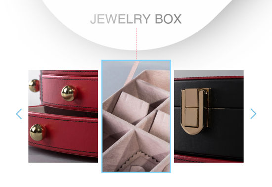 Luxury Retro Plastic Leather Jewelry Packing Box with Drawer pictures & photos