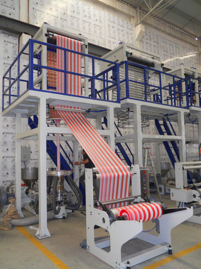 Two Colors Co-Extrusion Plastic Film Blowing Machine
