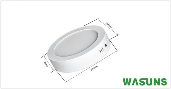 24W Round Aluminium Cover 90lm/W Light Panel LED pictures & photos