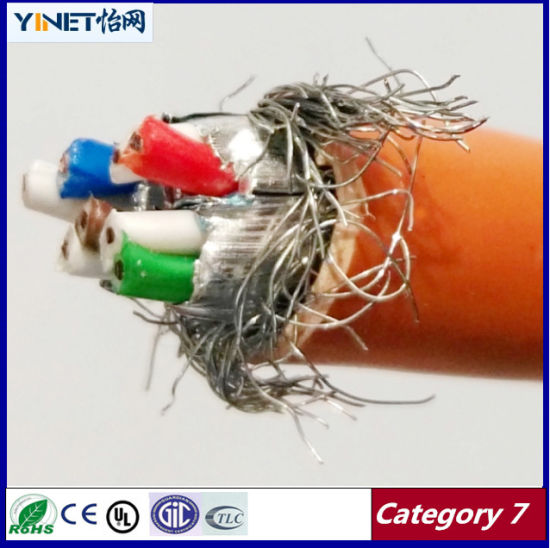 Category 7 Cable 99.99% Bare Copper SFTP Cat7 Ethernent LAN Cable pictures & photos