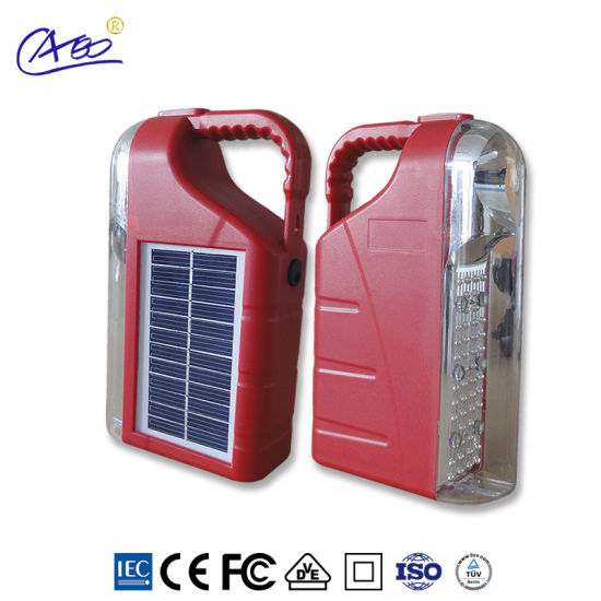Solar Energy LED Lamp Portable Solar Lantern for Outdoor Camping pictures & photos