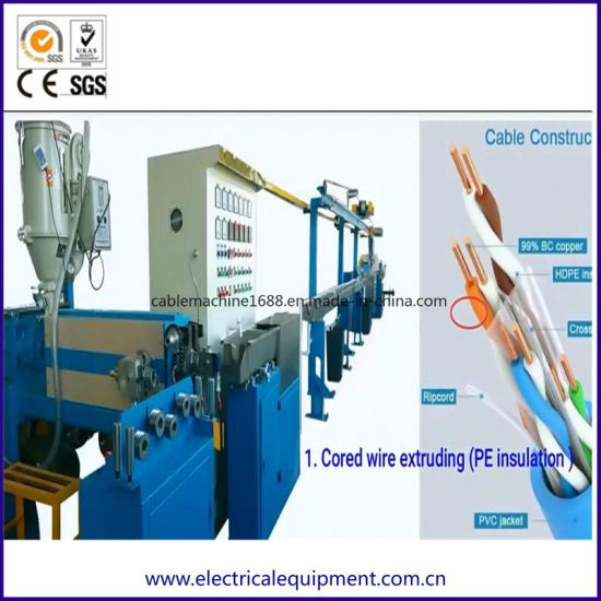 Turn Key Solution for LAN Cable Cat5 Cat 6 Cable Production Line pictures & photos